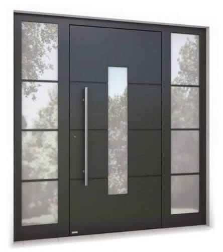 Закрепете пантите на входната врата